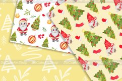 Watercolor gnome christmas seamless patterns Product Image 4