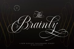 Brainly Script- With Ornament Product Image 1