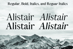 ALISTAIR FONT, A modern Serif Product Image 3