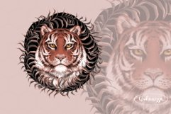 Tiger portrait with wreath Product Image 1