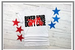 Motorcycle Biker Hair Don't Care SVG Product Image 2