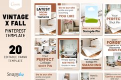 Vintage x Fall Pinterest Canva Template Product Image 1