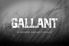 GALLANT - A Textured Display Font Product Image 1