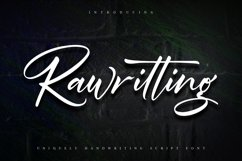 Rawriting | Uniquely Handwriting Script Font Product Image 1