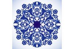Laser cut floral arabesque round ornament pattern vector bg Product Image 1