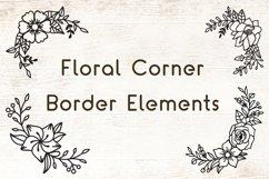 Flowers SVG Set of 12 - Floral Corner Border Elements Product Image 4