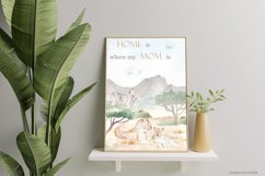 Mom and baby animals Watercolor Product Image 3