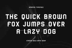 Sporter - Sporty Display Typeface Product Image 3