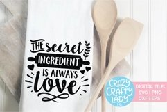 The Secret Ingredient Is Always Love SVG DXF Cut File Product Image 1