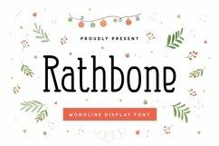 Web Font Rathbone Font Product Image 1
