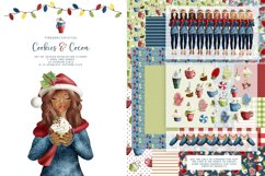 Christmas clipart & Seamless Digital Paper set for crafters Product Image 1
