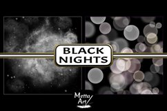 Black Nights - 10 Digital Papers/Backgrounds Product Image 5