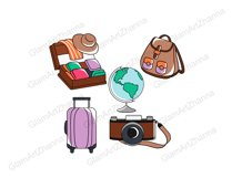 Travel CUTE DOLLS Adventure Vacation Wanderlust Clipart PNG Product Image 2