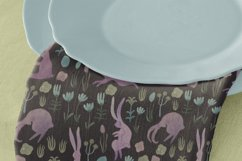 Seamless watercolor pattern with easter bunnies Product Image 2