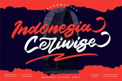 Indonesia Ceriwise - Modern Script Font Product Image 1