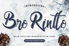 Outline Bold Script - Bro Rintto Font Product Image 1