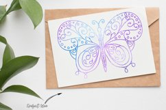 Butterfly 1 - Single line for Foil Quill, Digi Stamp Product Image 2