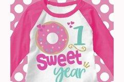 donut birthday svg, 1st birthday svg, first birthday svg Product Image 1
