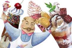 Ise cream clipart,dessert clip art Product Image 5