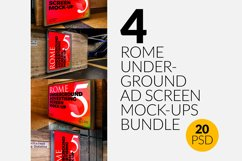 4 Rome Undrground Ad Screen Mock-Ups Bundle Product Image 1
