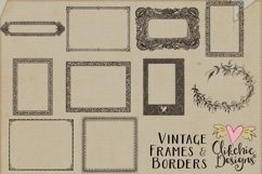 Vintage Frames and Borders plus Photoshop Brushes Product Image 2