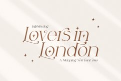 Lovers in London Serif Font Duo Product Image 1