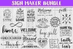 SALE! Sign maker bundle - includes 20 designs,Quote sign svg Product Image 1
