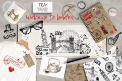 Set of hand drawn sketch illustration London Product Image 1