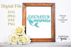 Secretly a Mermaid svg digital cut file Mermaid Love Product Image 1