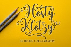 Hosty Klotzy - Modern Calligraphy Font Product Image 1