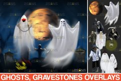 39 Halloween overlay & Ghost Clipart Photoshop overlay Product Image 1