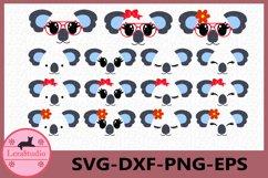 Koala Face SVG, Animal face svg, Koala Eyelashes Face Product Image 1