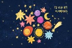 Space clip art/ Solar sistem kid Product Image 2