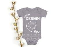 Bella Canvas 100B Baby Bodysuit Mockup Bundle - Baby Mock Up Product Image 3