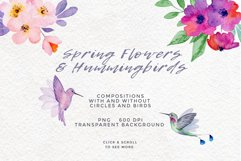 Spring Flowers and Hummingbirds Wanercolor Set Product Image 3