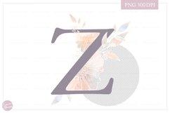 Letter Z Floral MONOGRAM - elegant wedding flower initial Product Image 2