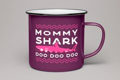 Retro Mommy Shark Print / Mothers Day T-Shirt, Family SVG Product Image 4