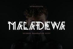 Maladewa - Decorative Font DR Product Image 1