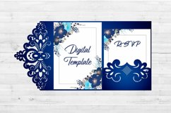 Lace wedding invitation template, Svg files for cricut Product Image 3