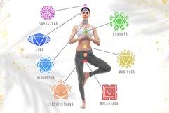 Chakra sybmols. Mandala set, Yoga, boho style.2 variatio Product Image 3