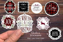 Christmas Stickers bundle  Print and cut   svg  png Product Image 1