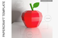 PDF Template of Apple fruit papercraft template / 3D craft Product Image 3