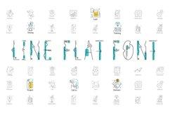 Web Font Line Flat font line flat icon Product Image 1