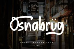 Osnabrug Font Quirky Handwritten Product Image 1