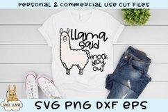 Llama Said Knock You Out SVG Product Image 1