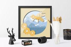 Paper cut| Layered papercut| Bee Honey papercut Product Image 3