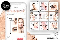 Beauty Instagram 18 Posts Template | CANVA Product Image 1