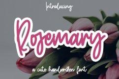Web Font Rosemary - Cute Handwritten font Product Image 1