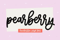 Pearberry - A Cute Handwritten Script Font Product Image 1