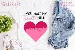 Heart Melt SVG, Valentine's cut file, Love svg Product Image 2